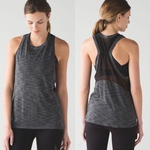 Lululemon Work The Circuit Tank Heathered Black